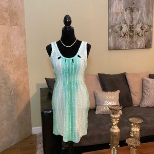Mermaid ANTHROPOLOGIE | Green Ombré Dress | S/M